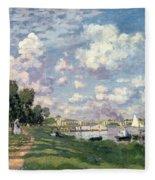 The Marina At Argenteuil Fleece Blanket