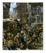 The Market Of Verona Fleece Blanket