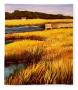 The Marsh At Cherry Grove Myrtle Beach South Carolina Fleece Blanket