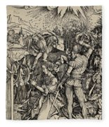 The Martyrdom Of St. Catherine Of Alexandria Fleece Blanket