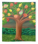 The Marzipan Tree Fleece Blanket