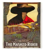 The Masked Rider 1919 Fleece Blanket