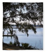 The May River In Bluffton Fleece Blanket