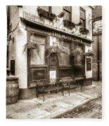 The Mayflower Pub London Vintage Fleece Blanket
