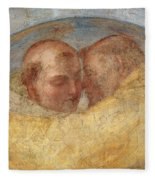 The Meeting Of St Francis And St Dominic  Fleece Blanket