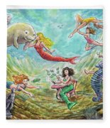 The Mermaids Of Weeki Wachee State Park Fleece Blanket