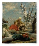 The Midday Rest Sailors Yarning Fleece Blanket