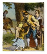 The Midnight Ride Of Paul Revere 1775 Fleece Blanket