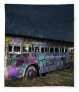 The Milky Way Bus Fleece Blanket