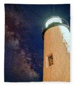 The Milky Way Over Pemaquid Point Fleece Blanket