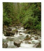The Miller River  Fleece Blanket