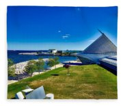 The Milwaukee Art Museum On Lake Michigan Fleece Blanket