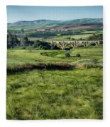 The Milwaukee Road Railroad Viaduct Near Rosalia Wa Dsc05095 Fleece Blanket