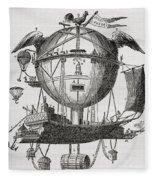 The Minerva Balloon Designed By  Tienne Fleece Blanket