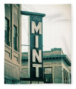 The Mint Classic Neon Sign Livingston Montana Fleece Blanket