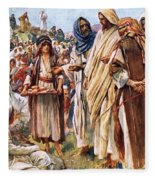 The Miracle Of The Loaves And Fishes Fleece Blanket