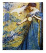 The Mirror 1910 Fleece Blanket