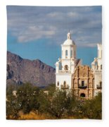 The Mission And The Mountains Fleece Blanket