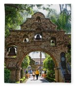 The Mission Inn Entrance Fleece Blanket