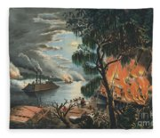 The Mississippi In Time Of War, 1865  Fleece Blanket