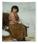 The Mistletoe Gatherer Fleece Blanket