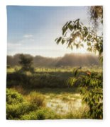 The Mists Of The Morning Fleece Blanket