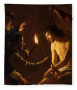 The Mocking Of Christ Fleece Blanket