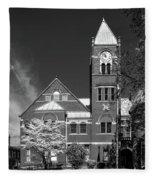 The Monongalia County Courthouse - Morgantown West Virginia Fleece Blanket