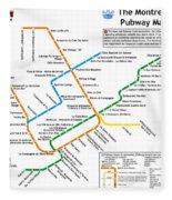 The Montreal Pubway Map Fleece Blanket
