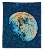 The Moon Fleece Blanket
