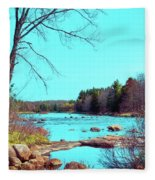 The Moose River At Lyonsdale Fleece Blanket