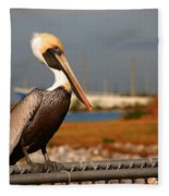 The Most Beautiful Pelican Fleece Blanket