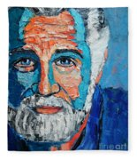 The Most Interesting Man In The World Fleece Blanket