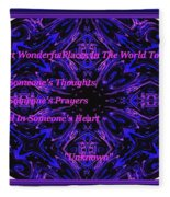 The Most Wonderful Places Fleece Blanket