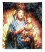 The Mother Of The King Is Queen Fleece Blanket
