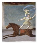 The Mounted Acrobats Fleece Blanket