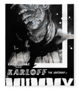 The Mummy 1932 Movie Poster  Fleece Blanket