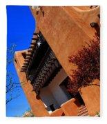 The Museum Of Art In Santa Fe Fleece Blanket