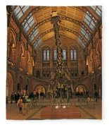 The Museum Of Natural History... London Fleece Blanket