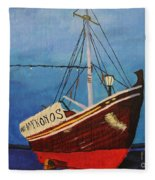 The Mykonos Boat Fleece Blanket