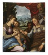 The Mystic Marriage Of Saint Catherine Fleece Blanket