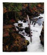The Natural Bridge Gorge Fleece Blanket