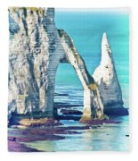 The Needle Of Etretat Fleece Blanket
