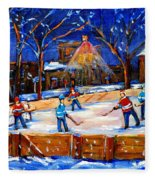 The Neighborhood Hockey Rink Fleece Blanket