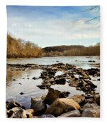 The New River At Whitt Riverbend Park - Giles County Virginia Fleece Blanket