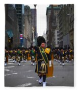 The New York City Police Emerald Society Pipe And Drum Corps Fleece Blanket