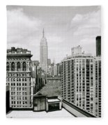 The New York Skyline Fleece Blanket