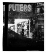 The Night Side Of Town - New York Fleece Blanket
