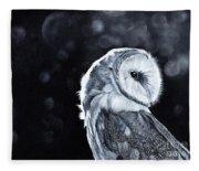 The Night Watcher Fleece Blanket