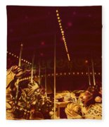 The Nightmare Carousel 12 Fleece Blanket